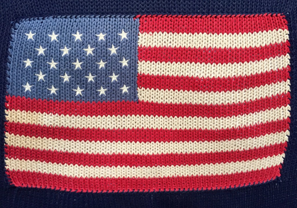 Flag pillow on the 4th!